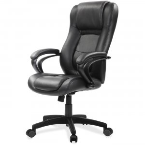 Eurotech Leather High Back With Spring Cushion Design LE521BLKL