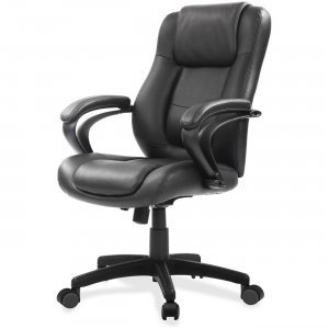 Eurotech Leather Mid Back With Spring Cushion Design LE522BLKL