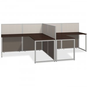 bbf Easy Office 60W 2 Person L Desk Open Office - 3-Drawer EOD560MR-03K