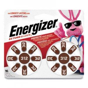Energizer Hearing Aid Battery, Zero Mercury Coin Cell, 312, 1.4V EVEAZ312DP16 AZ312DP16