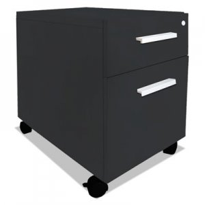 Safco e5 Series Mobile Box/File Pedestal, 15 1/2w x 24d x 23h, Raven MLNE5PEDSAHB E5PEDSAHB