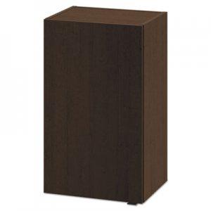 HON Hospitality Wall Cabinet, One Door, 18w x 14d x 30h, Mocha HONHPHC1D18MO