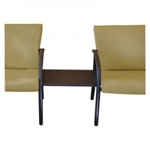 La-Z-Boy Contract Gratzi Reception Series Ganging Table, 23w x 16 1/2d x 16 1/2h, Black LZB93286