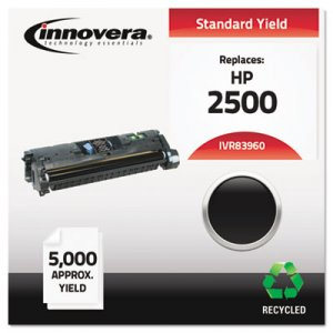 Innovera Remanufactured Black Toner, Replacement for HP 122A (Q3960A), 5,000 Page-Yield IVR83960