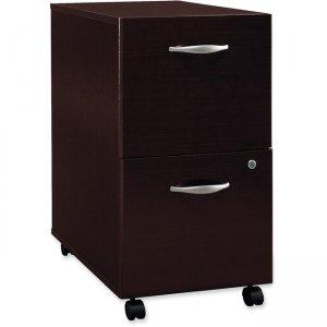 Bush Business Furniture Series C 2 Drawer Mobile Pedestal in Mocha Cherry WC12952SU