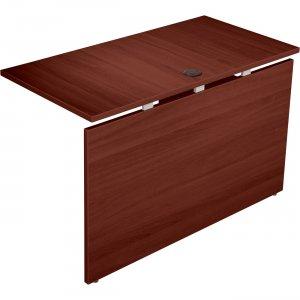 Lorell Concordia Series Mahogany Laminate Desk Ensemble 81943 LLR81943