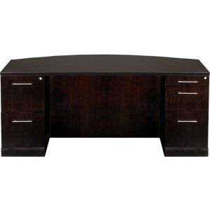 Mayline Double Pedestal Desk, Bow Front, PBF/FF - 5-Drawer SDBBF722ESP SDBBF72