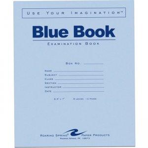 "Roaring Spring Blue Book 8.5""X7"" WM 6 SHT/12 Page 77511 ROA77511"