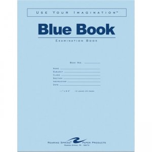 "Roaring Spring Blue Book 11""x8.5"" WM 10 SHT/20 Page 77518 ROA77518"
