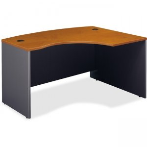 Bush Business Furniture Series C60W x 43D Right Hand L-Bow Desk Shell in Natural Cherry WC72422