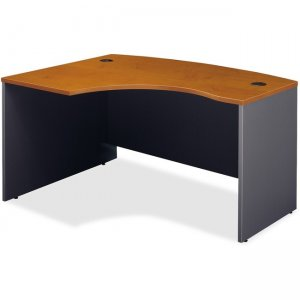 Bush Business Furniture Series C60W x 43D Left Hand L-Bow Desk Shell in Natural Cherry WC72433
