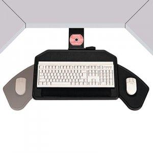 Ergonomic Concepts Boomerang Board Corner Workstation Platform, 22.5w x 13.5d, Black EGCECI810REF ECI810REF