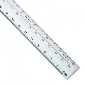 "Staedtler Triangular Scale Plastic Engineers Ruler, 12"", White STD9871934 987 19-34BK"