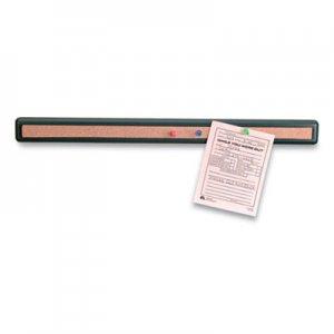 Officemate Verticalmate Plastic Cork Bar, 19 x 0.88 x 1.5, Gray OIC610658 29212