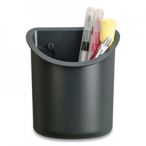 Officemate Verticalmate Plastic Pencil Cup, 5 h x 4.25 dia, Gray OIC515105 29032