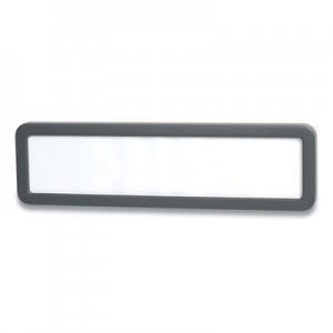 Officemate Verticalmate Plastic Name Plate, 9.25 x 0.88 x 2.63, Gray OIC24394109 OIC29222