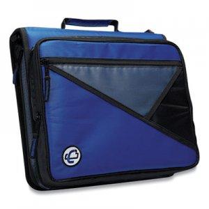 "Case it Universal Zipper Binder, 3 Rings, 2"" Capacity, 11 x 8.5, Blue/Gray Accents CAE271292 LT-007BLU"