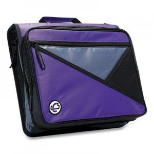 "Case it Universal Zipper Binder, 3 Rings, 2"" Capacity, 11 x 8.5, Purple/Gray Accents CAE271290 LT-007 PUR"