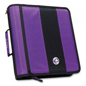 "Case it Classic Zipper Binder, 3 Rings, 2"" Capacity, 11 x 8.5, Purple/Black Accents CAE271284 D-251 PUR"