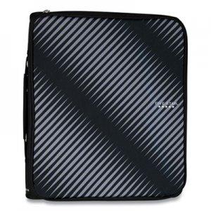 "Five Star Zipper Binder, 3 Rings, 2"" Capacity, 11 x 8.5, Black/Gray Zebra Print Design ACC203535 72536"
