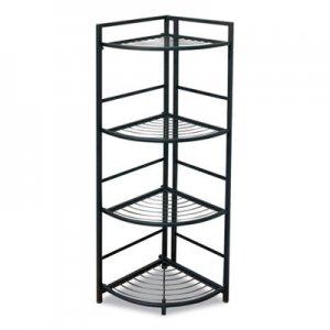 Advantus FlipShelf Four-Shelf Corner Unit, 13 x 13.5 x 45.5, Black AVT2452786 37641