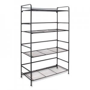 Advantus FlipShelf Four-Shelf Unit, 26.5 x 12 x 43, Black AVT2431835 38701