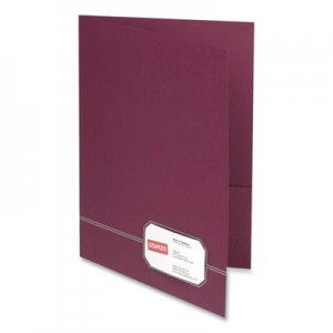 Oxford Monogram Series Business Portfolio, Letter, Burgundy/Gold, 4/Pack OXF883860 04165