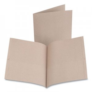 Oxford Earthwise by Oxford 100% Recycled Paper Twin-Pocket Portfolio, 100 Sheet Capacity, Letter, Natural, 10/Pack OXF482504 00574