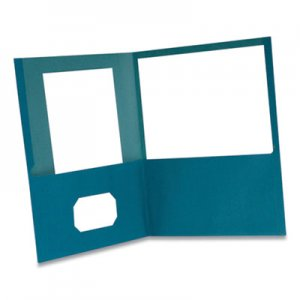 Oxford Earthwise by Oxford 100% Recycled Paper Twin-Pocket Portfolio, 100 Sheet Capacity, Letter, Blue 10/Pack OXF479455 00571