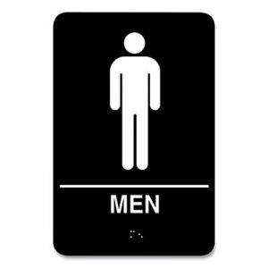 COSCO Indoor Restroom Door Sign, Men/Women, 5.9 x 9, Black/White, 2/Pack CSC712415 098095