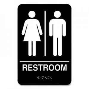 COSCO Indoor Restroom Door Sign, Unixex 5.5 x 8.5, Black/White CSC712399 098096