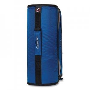 "Case it King Size Mighty Zip Tab Binder, 3 Rings, 4"" Capacity, 11 x 8.5, Blue CAE271276 D-186"