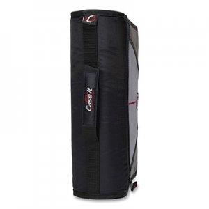 """Case it Mighty Zip Tab Binder, 3 Rings, 3"""" Capacity, 11 x 8.5, Black CAE169801 D-146-BLACK"""