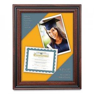 Victory Light Plastic Certificate Frame, 8.5 x 11, Rosewood/Black VLU1061112 VS4501B.811