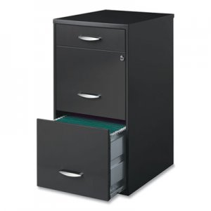 Office Designs Three-Drawer Utility File Cabinet, 14.5w x 18d x 27.13h, Charcoal HID892639 18606