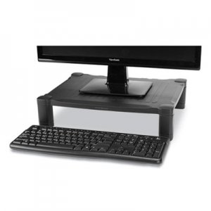 """Mind Reader Adjustable Rectangular Monitor Stand, 17"""" x 13"""" x 3.75"""" to 5.75"""", Black, Supports 22 lbs EMS24395821"""