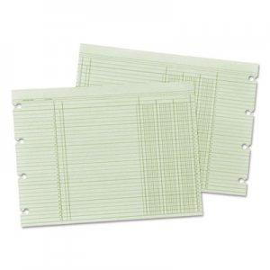 Wilson Jones Accounting Sheets, Three Column, 9-1/4 x 11-7/8 , 100 Loose Sheets/Pack, Green WLJG103