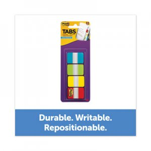 """Post-it 1"""" Wide Tabs with Dispenser, Aqua, Lime, Red, Yellow, 88/Pack MMM70005179232 686ALYR1IN"""