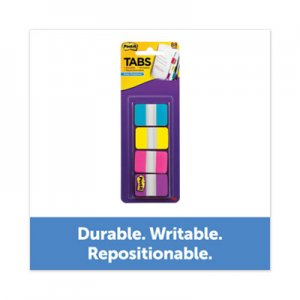 """Post-it 1"""" Wide Tabs with Dispenser, Aqua, Pink, Violet, Yellow, 88/Pack MMM70005179216 686-AYPV1IN"""