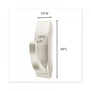 Command Bath Hooks, Large, Metal, Satin Nickel, 5 lb Capacity, 1 Hook and 2 Strips MMM70005080679 MR03-SN-BES