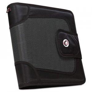 """Case it Premium Velcro Closure Binder, 3 Rings, 2"""" Capacity, 11 x 8.5, Black CAES816 S-816-BLACK"""