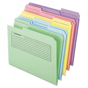 Pendaflex Printed Notes Folder, 1/3-Cut Tabs, Letter Size, Assorted, 30/Pack PFX45269 45269