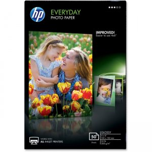 HP Glossy Photo Paper-50 sheet/4 x 6 in CR758A