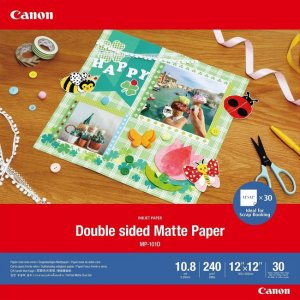 Canon Double Sided Matte Photo Paper 12x12 4076C007