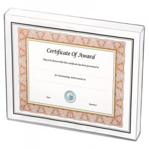 NuDell Un-Frame Box Photo Frame, Plastic, 8-1/2 x 11, Clear NUD30085 30085